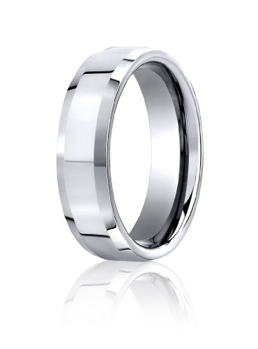 Womens 10K White Gold, 6mm Comfort-Fit High Polished Carved Band (sz (Carved Band)