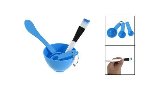 niceeshop(TM) 4 in 1 DIY Homemade Mask Bowl Spoons Brush Tools Set-Blue