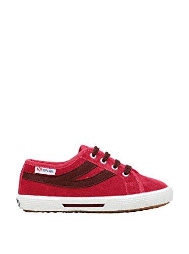 Superga 2951- SUEJ S004360 - Zapatillas de ante para niños Raspberry-Bordeaux