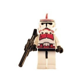 LEGO Star Wars Shock Clone Trooper (Red) Mini Figure with Rifle (Trooper Shock Clone)