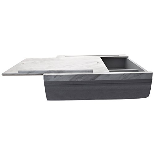 iCozy Portable Cushion Lap Desk With Storage - Marble / Charcoal Grey by  (Image #5)