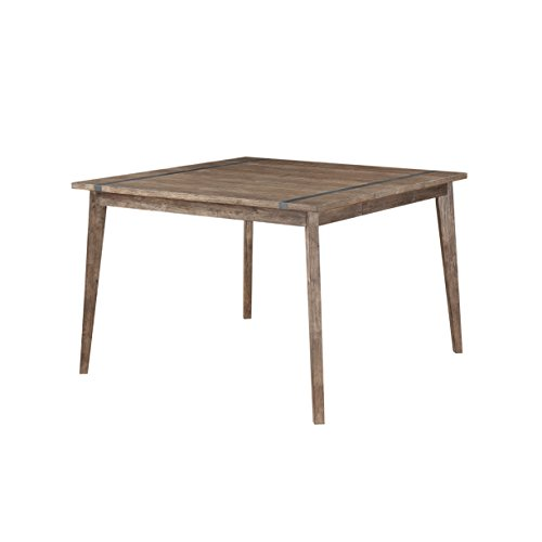 (Emerald Home Viewpoint Driftwood Gray Gathering Height Dining Table with Self Storing Butterfly Extension Leaf And Metal)