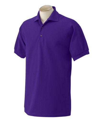 De Corta Primera Manga Polo Calidad Para Pique 100 Púrpura caballero Hombre Modelo Algodón Gildan 5tTq74wxt