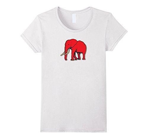 Womens Delta Elephant Sigma Red Theta T-Shirt Small (Delta Elephant)