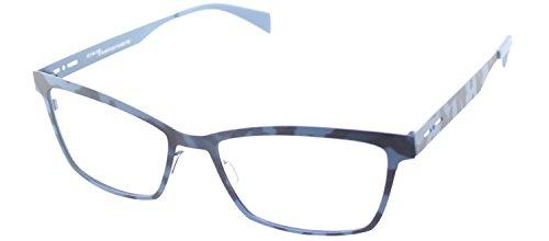 Italia Independent 5029 I-ACE 023 000 Blue Havana Metal Cat Eye - Italia Eyeglasses