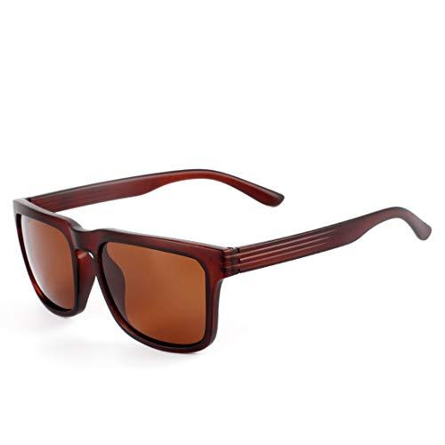 Lens de de Black Frame de Gafas Black Tea Frame Lens polarizadas Ultravioleta Tea Vintage Gafas de la Sol los Sakuldes Color protección Sol Hombres FzH5q7w