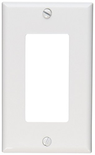 Leviton 80401-NW 1-Gang GFCI Decora Wallplate, Standard Size, Thermoplastic Nylon, Device Mount, 20-Pack, White Piece
