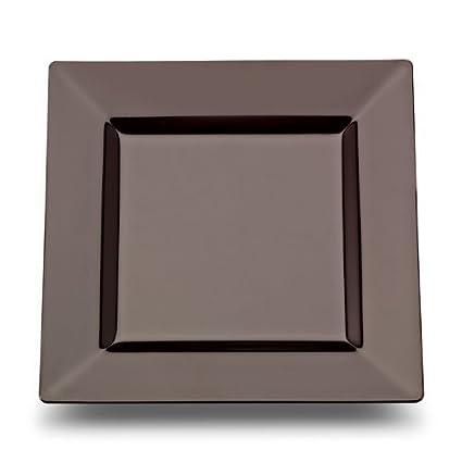 Square Plastic Dessert plates Black 6.5 Inch - 10 Count  sc 1 st  Amazon.com & Amazon.com: Square Plastic Dessert plates Black 6.5 Inch - 10 ...