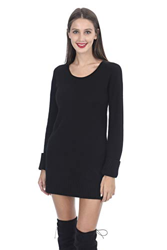 State Cashmere Women's 100% Cashmere Long Sleeve Crew Neck Sweater ()