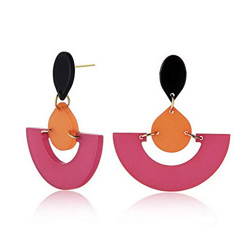 (Wausa Fashion 1 Pair Women Lady Hook Stud Ear Drop Dangle Acrylic Earrings Jewelry | Model ERRNGS - 6571 |)