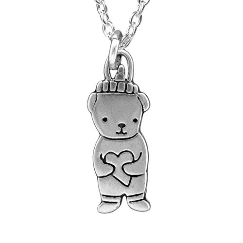 Sterling Silver Honey Bear Necklace (Sweetheart Pendent)