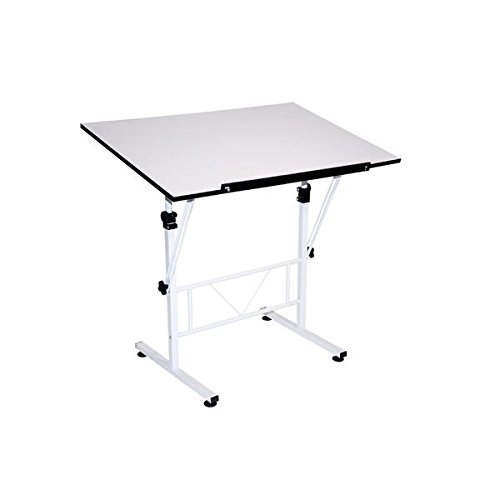 Martin Universal Design Smart Drafting and Hobby White Art Craft Table by Martin Universal Design