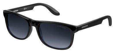 Carrera Carrerino 17/S Sunglasses CARRE17S-0D28-JJ-4916 - Shiny Black Frame, Gray Gradient Lenses,