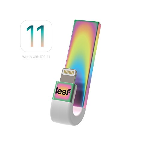 Leef iBridge 3 - iPhone Flash Drive 128GB (Cosmic Rainbow) - Expanded Memory for iPhone and iPad by Leef