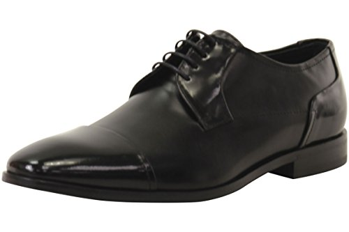 HUGO by Hugo Boss Men's Square Business Matte Leather Lace up Derby Work Shoe, Black, 11 N US by Hugo Boss (Image #7)