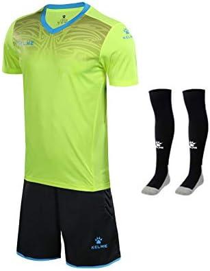 Goalkeeper 半袖シャツユニフォームバンドル - ジャージー、ショーツ、ソックスを含む - ショーツの保護パッド