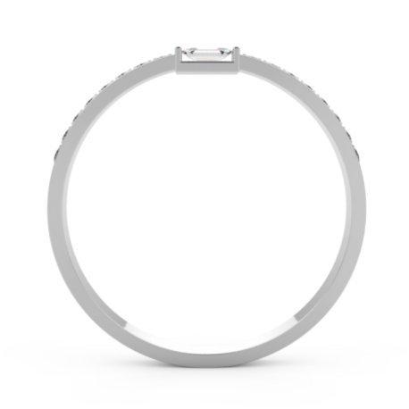 PLESS Bagues Or Blanc 18 carats Saphir Blanc 0,6 Princesse
