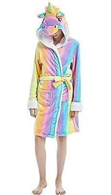 Women's Sleepwear Women Unicorn Bathrobe Hooded Pajamas Sleepwear Halloween Xmas Gift Costume