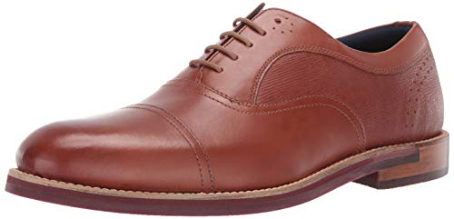 Ted Baker Men's Quidion Oxford Tan 14 Regular US (Best Designer Wedding Shoes)
