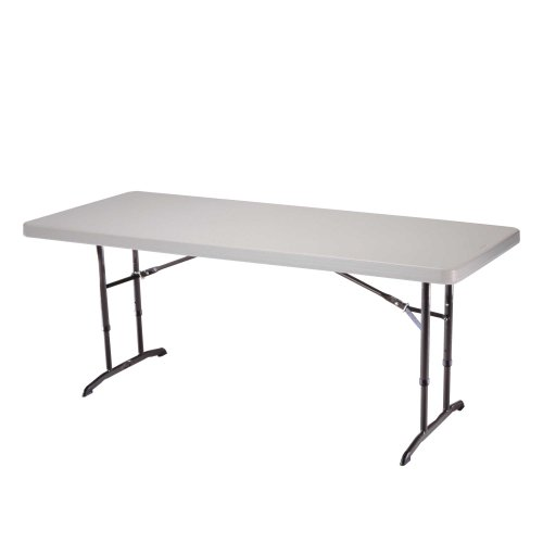 Lifetime 22920 Height Adjustable Folding Utility Table, 6 Feet, Almond ()