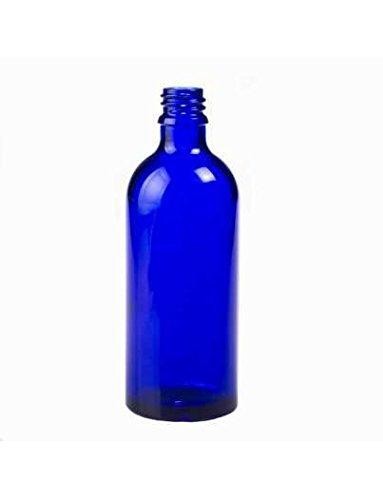 Botella vidrio azul 100 ml (DIN18) - 1 unidad