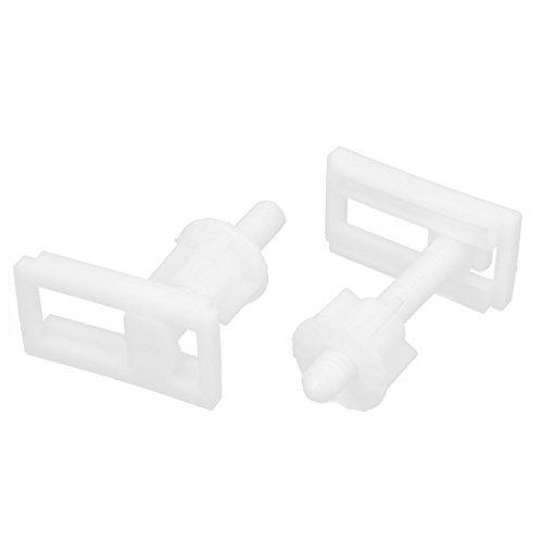 eDealMax rectangulares en forma de asiento de inodoro bisagra tornillos Tuercas herramienta de la reparación 2pcs