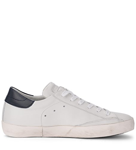 outlet locations sale online outlet official Philippe Model Sneaker Paris in Pelle Bianca E Blu 46(EU) -11(UK) White QegUo