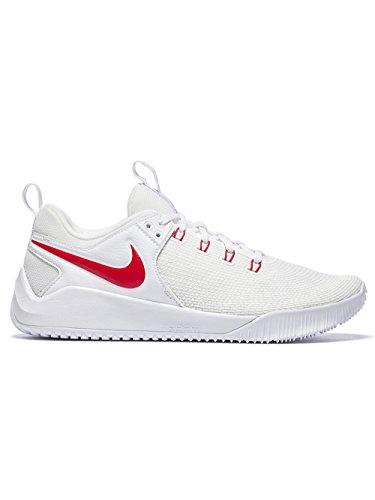NIKE Women's Zoom HyperAce 2 Training Shoe White/University Red Size 6.5 M US