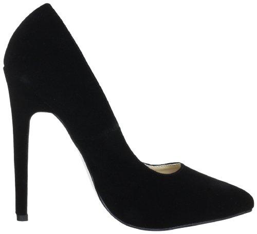 Pleaser EU-SEXY-20 - Zapatos de tacón de terciopelo mujer negro - Schwarz (Blk velvet)