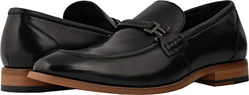 STACY ADAMS Men's Duval Moc-Toe Slip-On Penny Loafer, Black, 9 M US (Penny Moc)