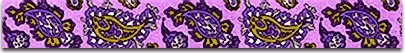 """Bohemian Paisley Purple Dog Collar - Size Medium 14"""" to 20"""" Long - Made In The USA"""