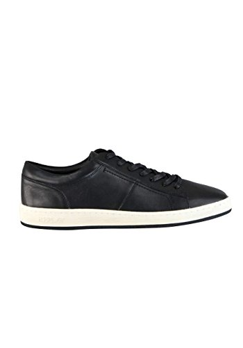 Replay Sneaker Stringato In Pelle Con Logo Nero Goffratura
