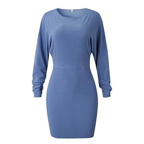 Felpa Best cappuccio Pullover donna overdose con Felpa cappuccio Mini Sales Slim manica unita con blu da Winter tinta lunga Felpa vrqU7Av