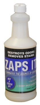 Zaps It Concentrate Pet Odor Eliminator (Each Quart Makes up to 12 gallons of Solution!) Keep Pet Urine Off Carpets, Rugs - Use in Outdoor Potty Areas Causing Odor Issues (12 Quart Case)