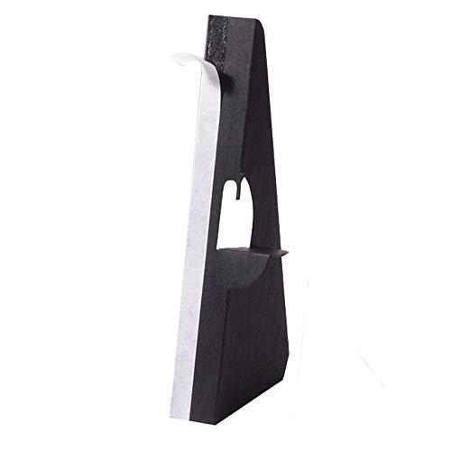 Lineco Self Stick Easel Backs black 7 in. pack of 5