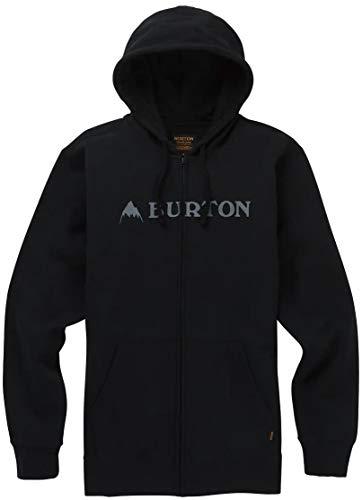 Burton Men's Horizontal Mountain Full-Zip Hoodie, True Black, Large