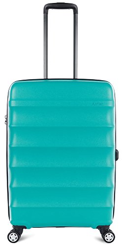 Antler Juno DLX 27'' Expandable Hardside Checked Spinner Luggage (Teal) by Antler