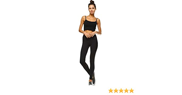 Mono B Womens Performance Activewear - Yoga Leggings with Sleek Contrast Mesh Panels (Large, AP1561_BLK)