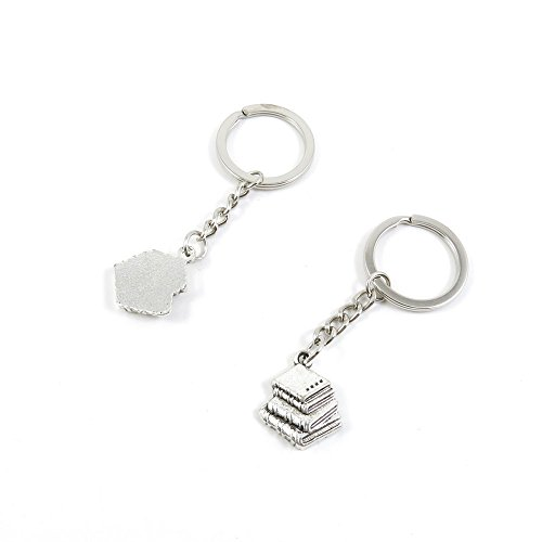 1 Pieces Keyring Key Ring Q4EP9 Books Keychain Automotive Car Door Key Tags Findings Charms -