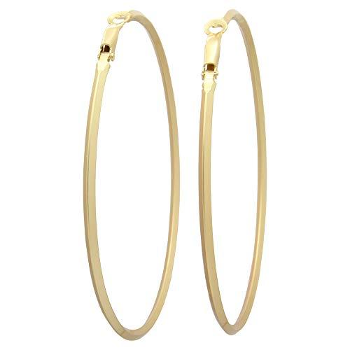 - Prismatic Stick Hoop Earrings Matte Fashion Costume Jewelry Hoop Earrings for Womens Girls Flat Dangle Drop Circle Earrings