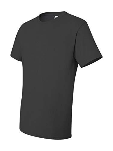 Jerzees 5.6 oz., 50/50 Heavyweight Blend T-Shirt, Small, CHARCOAL GREY