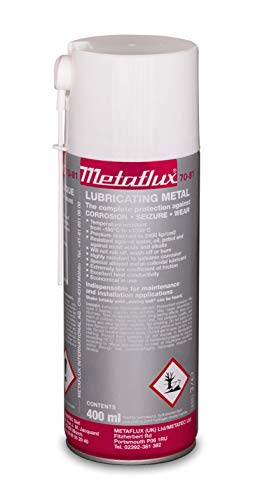 Titanium Metal Lubricant Spray & Corrosion Inhibitor| Industrial Heavy Duty Metal Lubricant Based On Titanium| Non-Flaking, Nickel, Copper and Aluminum-Free by Metaflux (13.5 Oz Spray) (1)