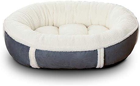 あったかベッド XL ペットハウス 保温防寒 猫ベッド 犬用マットレス もこもこ 寝台 オールシーズン かわいい 小型中型犬用 ワンちゃん イヌ 犬 ドッグ ネコちゃん ホワイト 猫 キャット用ふかふか ラウンド型 M ブルー 白
