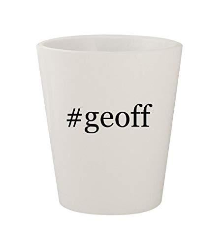 #geoff - Ceramic White Hashtag 1.5oz Shot Glass -