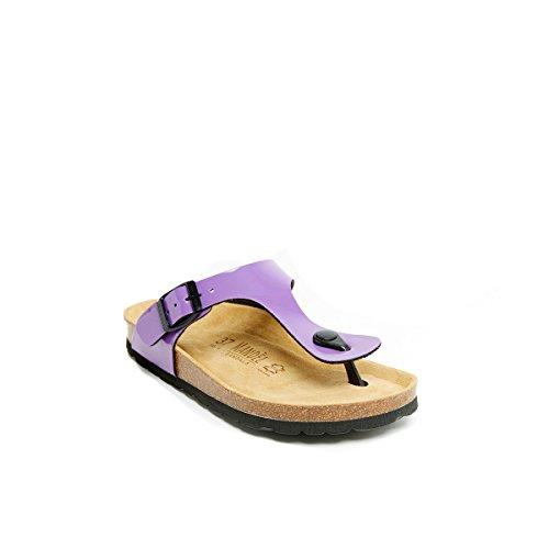 Sandalo Sandales Mandèl Pour Aubergine Violet Femme vqA0wPT