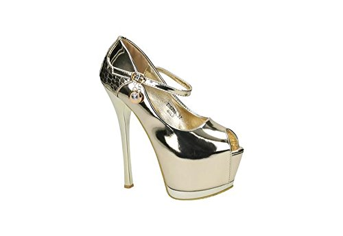 Jumex Women's Court Shoes Gold