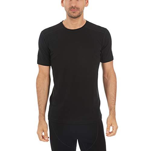 Minus33 Merino Wool 1201 Woolverino Men's Micro Weight Short Sleeve Crew Black Large