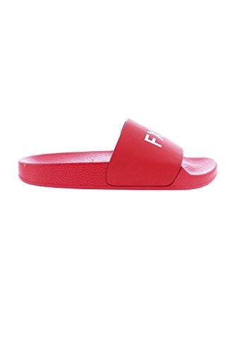 Genx Femmes Simple Mot Lettre Diapositive Sandale Chaussures Pantoufle Nomi-12 Rouge