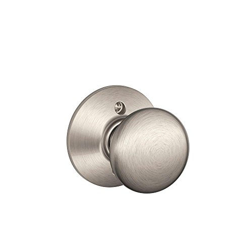 Schlage Lock Company Plymouth Knob Non-Turning Lock, Satin Nickel (F170 PLY 619)