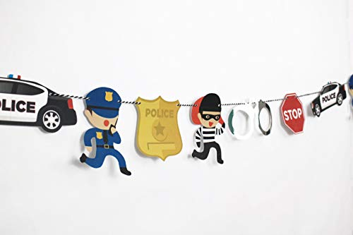 Cops and Robbers - Garland | Cop Party Decoration | Boy Birthday Party | Cops, Robbers, Police Car, Police Badge, Handcuffs, Stop Sign | Kids Party